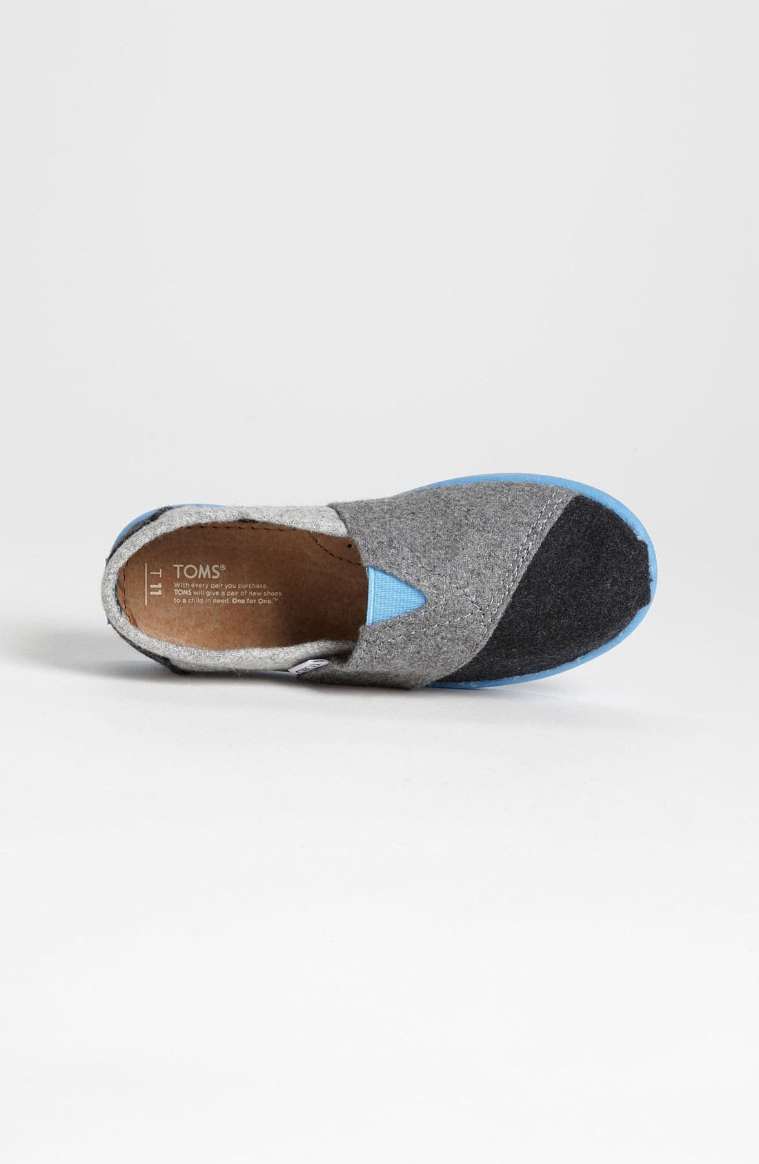 Alternate Image 3  - TOMS 'Classic Tiny - Plaid Pop' Wool Slip-On (Baby, Walker & Toddler)