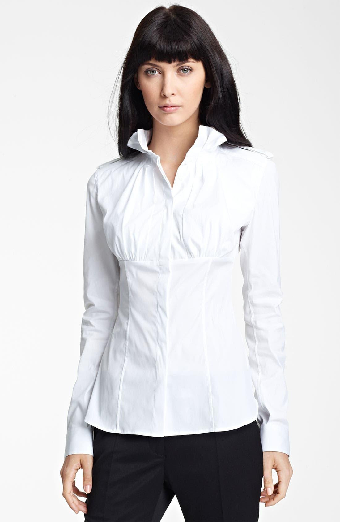 Alternate Image 1 Selected - Burberry Prorsum Ruffled Collar Shirt