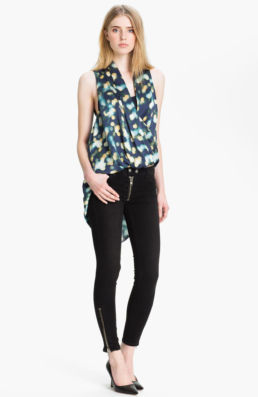Main Image - Elizabeth and James 'Behati' Print Silk Top