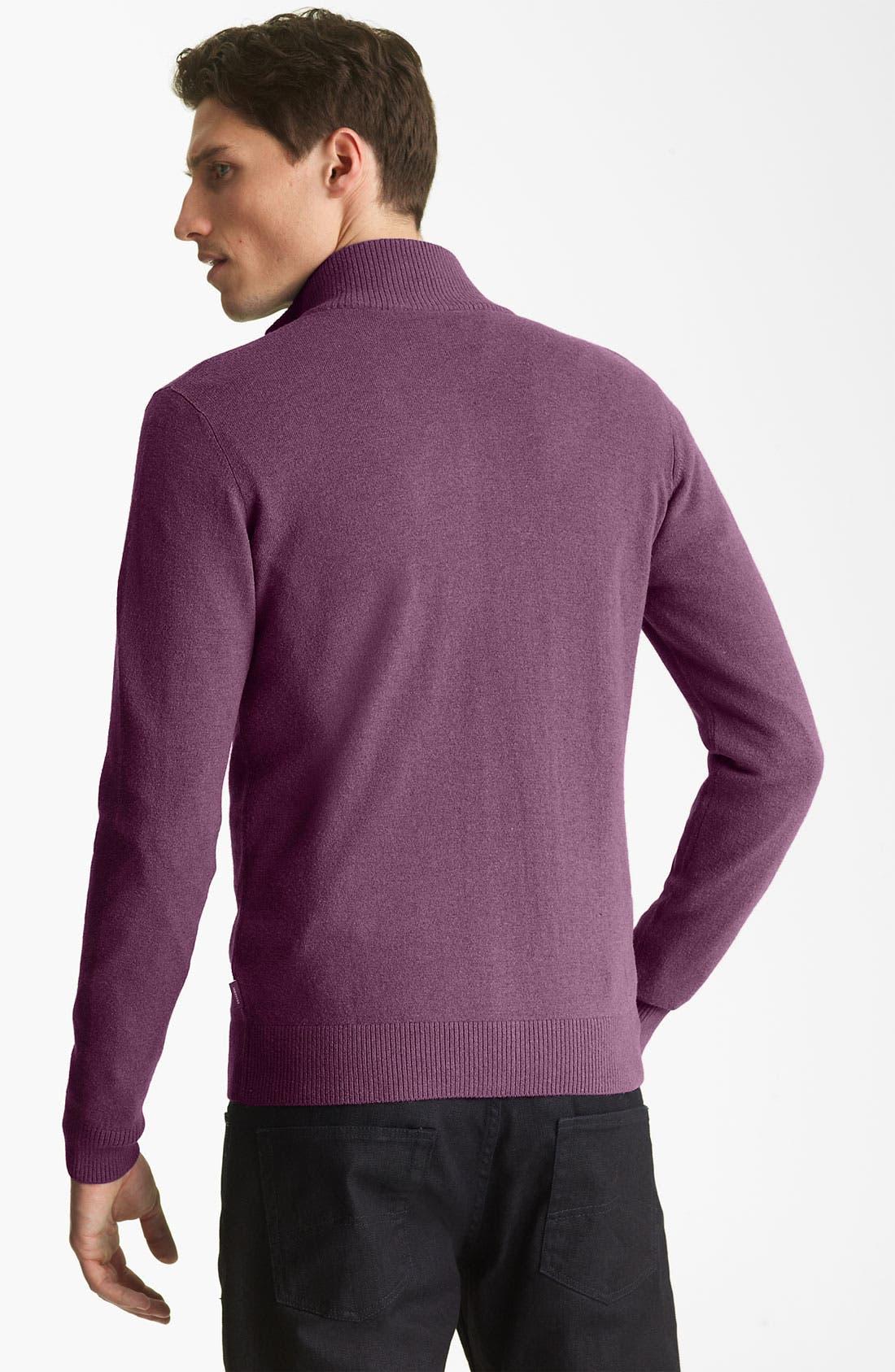 Alternate Image 2  - Armani Collezioni Zip Sweater