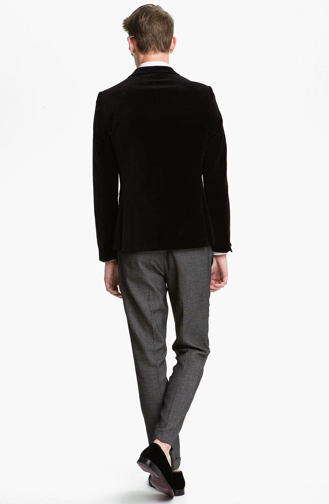 Alternate Image 5  - Topman Slim Fit Tonal Pin Dot Dress Shirt