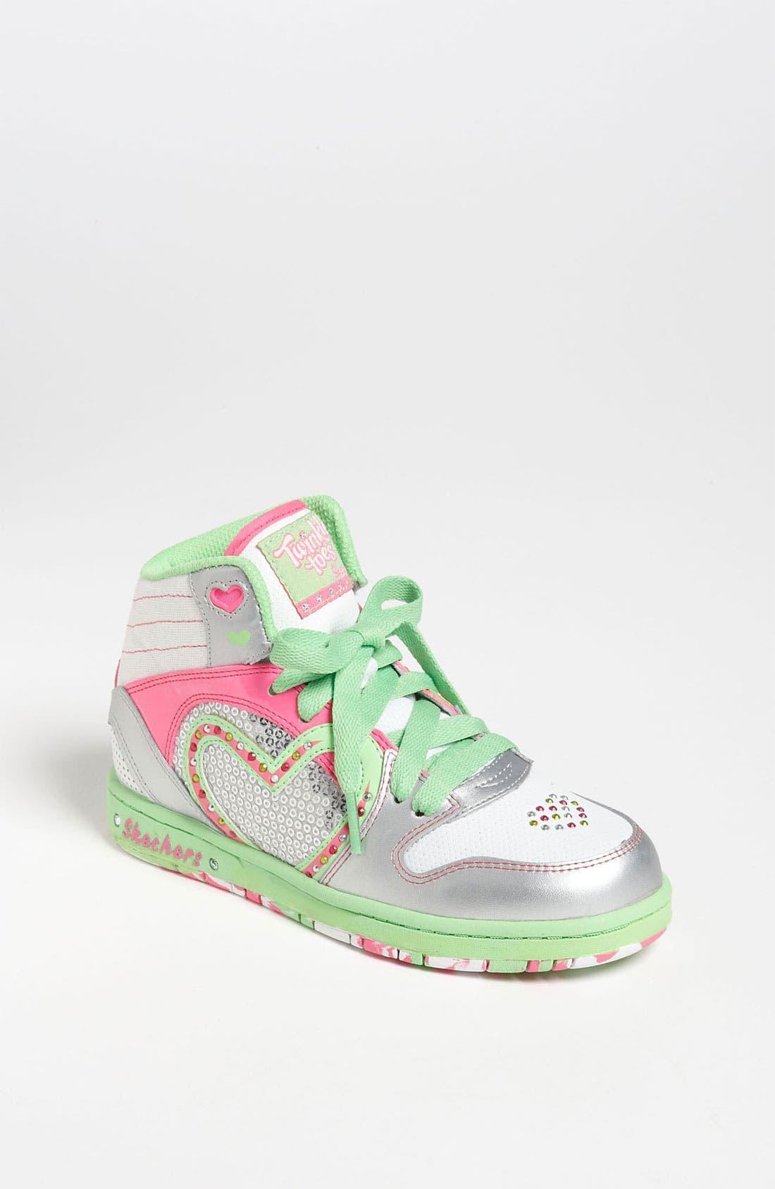 Main Image - SKECHERS 'Twinkle Toes - Heart N' Soul' Sneaker (Toddler, Little Kid & Big Kid)