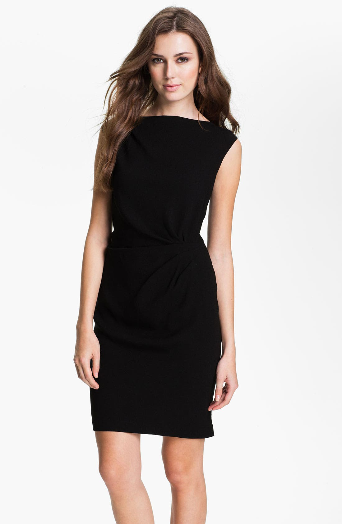 Main Image - Suzi Chin for Maggy Boutique Side Draped Sheath Dress