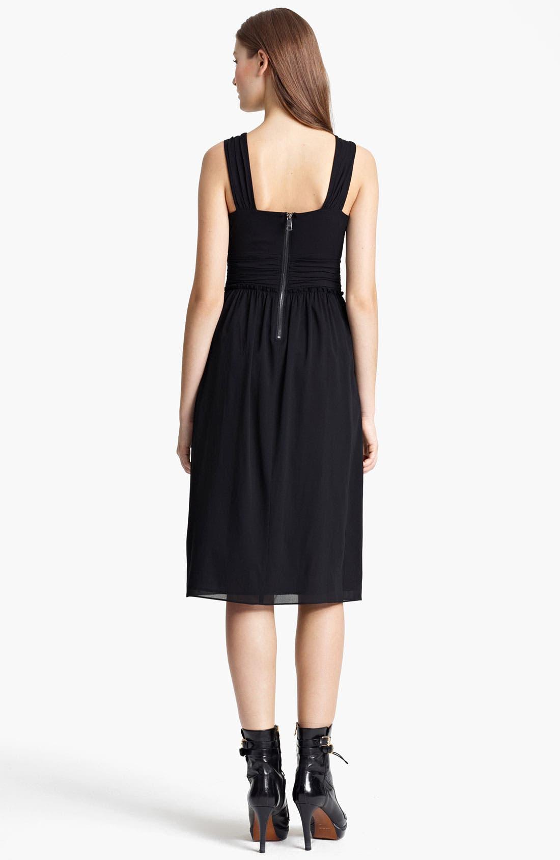 Alternate Image 2  - Burberry London Pleat Crepe Dress
