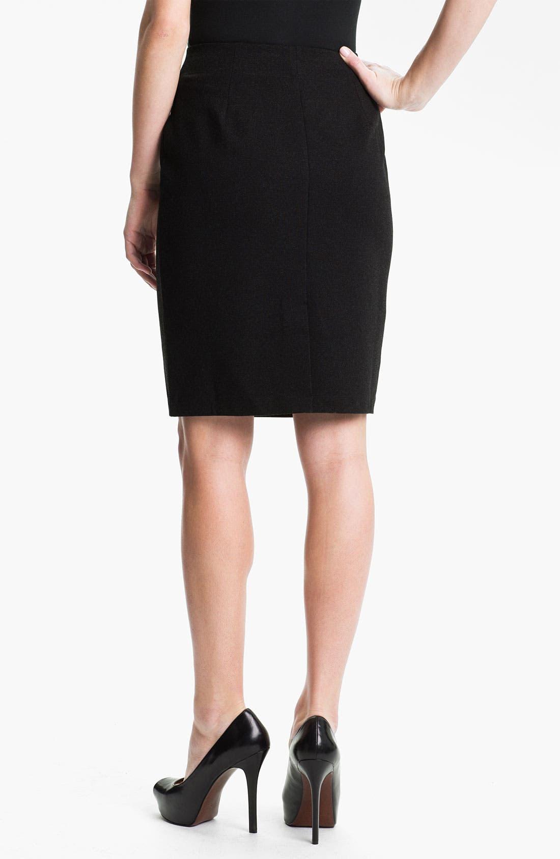 Alternate Image 2  - Eileen Fisher Ponte Skirt (Petite)