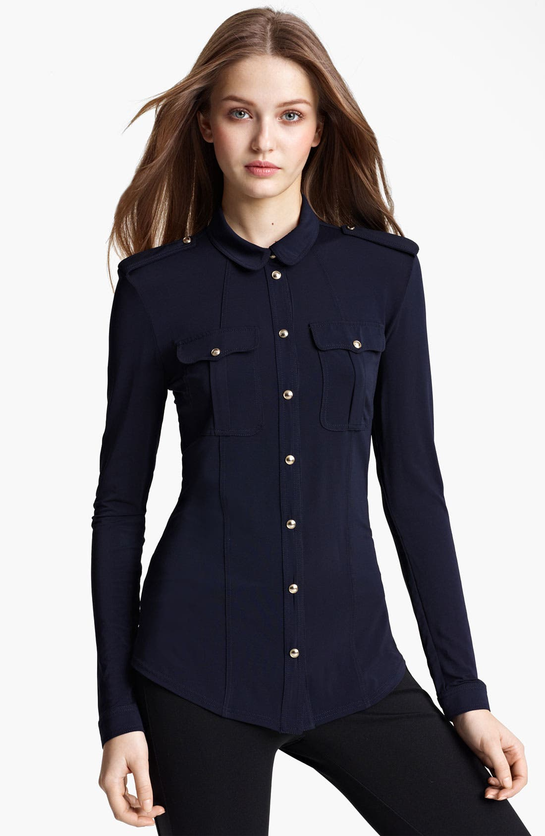 Main Image - Burberry London Matte Jersey Top