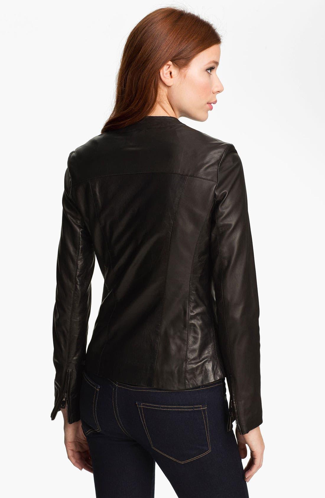 Alternate Image 3  - Bod & Christensen Leather Moto Jacket (Online Exclusive)