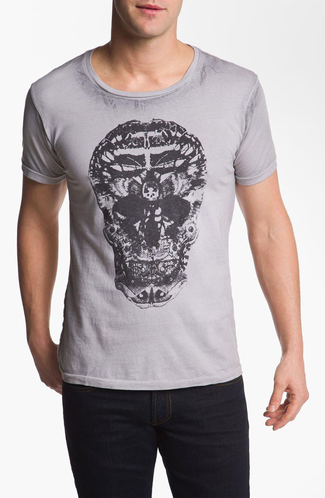 Alternate Image 1 Selected - Black Hearts Brigade 'Death Moth Skull' Graphic T-Shirt