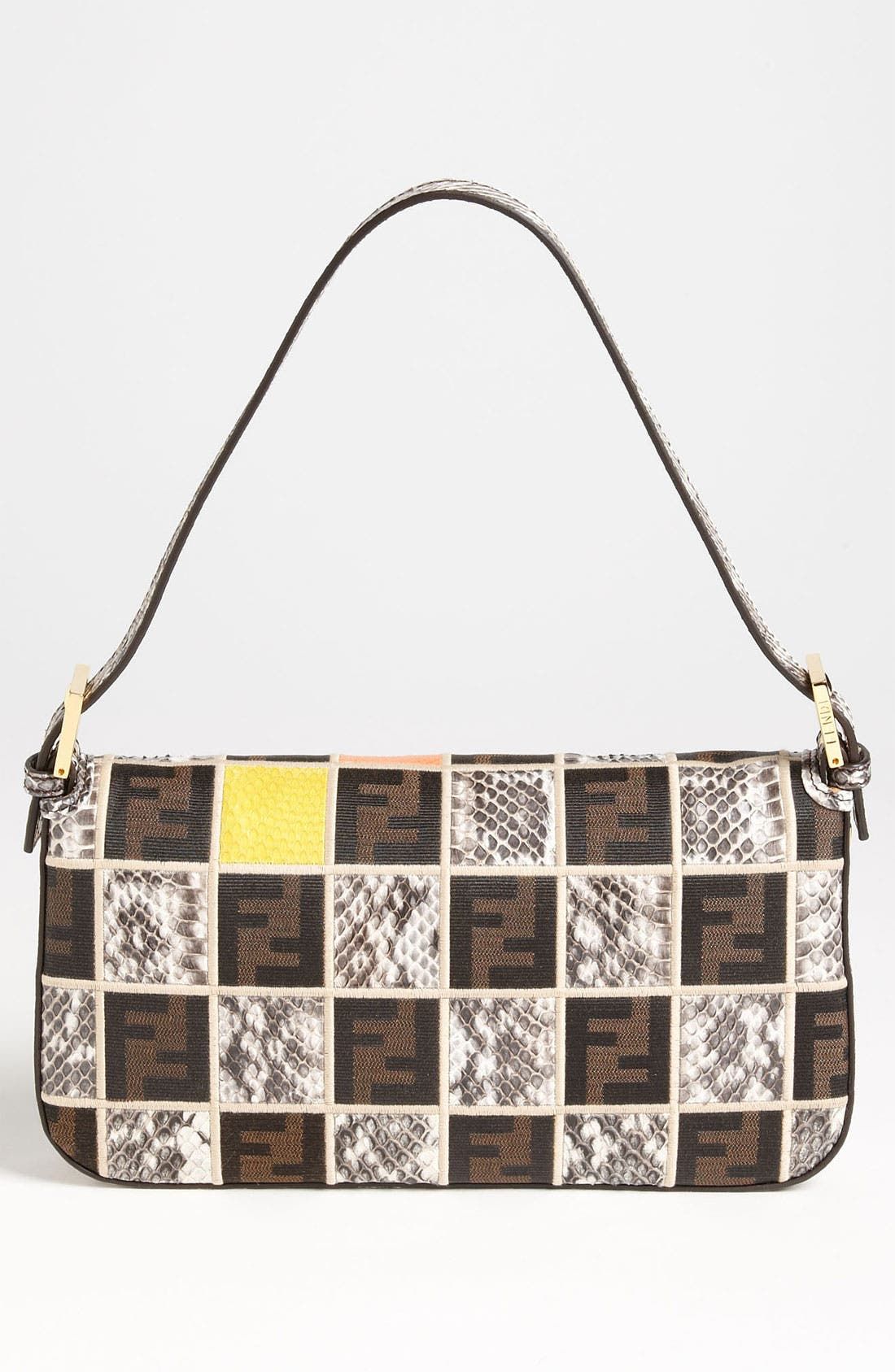 Alternate Image 4  - Fendi Genuine Ayers Snakeskin Patchwork Baguette