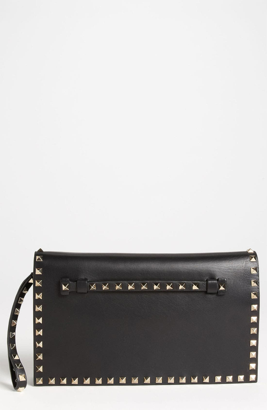 Main Image - Valentino 'Rockstud' Nappa Leather Flap Clutch