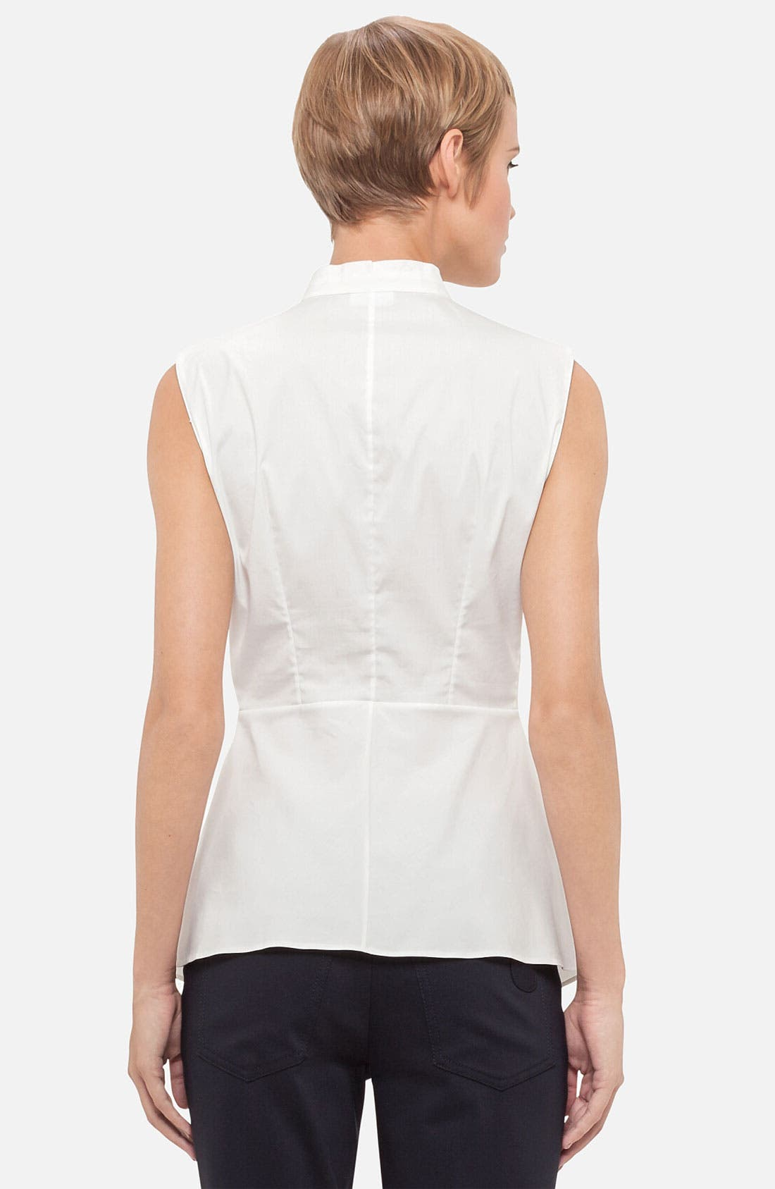 Alternate Image 2  - Akris punto Sleeveless Peplum Blouse