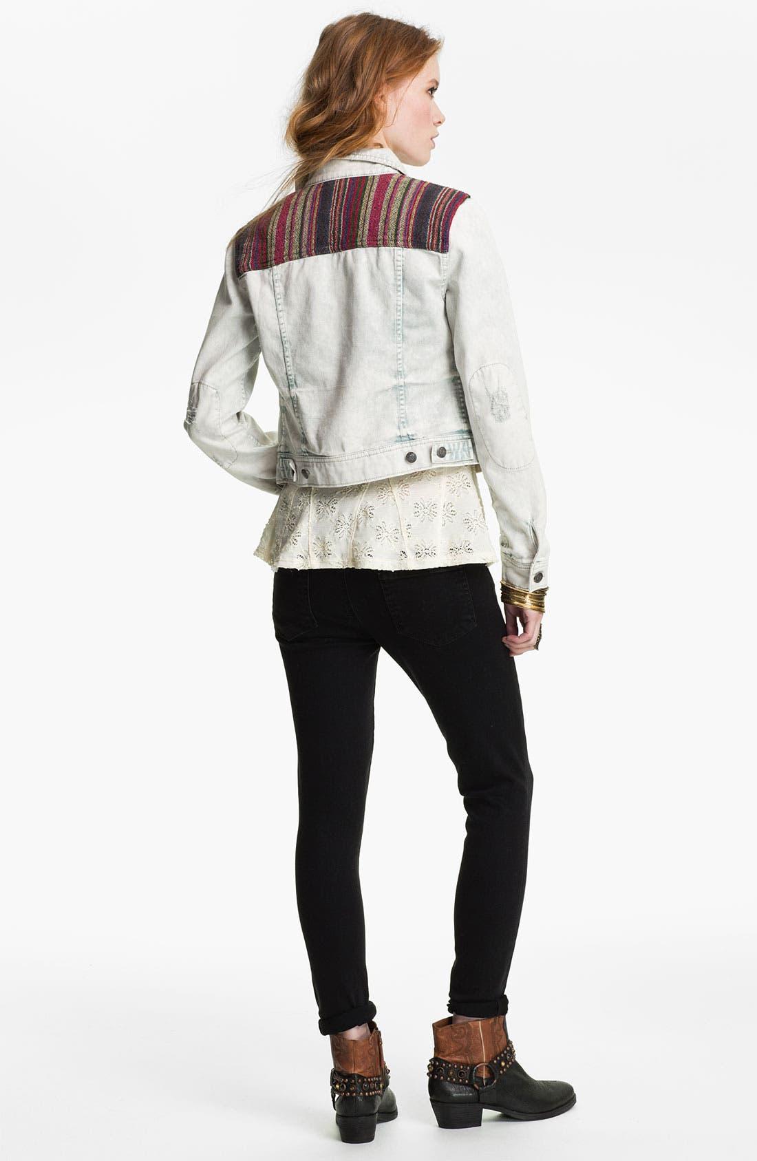 Alternate Image 2  - Free People 'Baja' Bleached Denim Jacket
