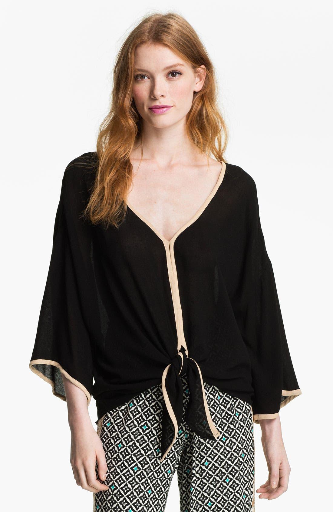 Main Image - Ella Moss 'Stella' Tie Hem Kimono Top