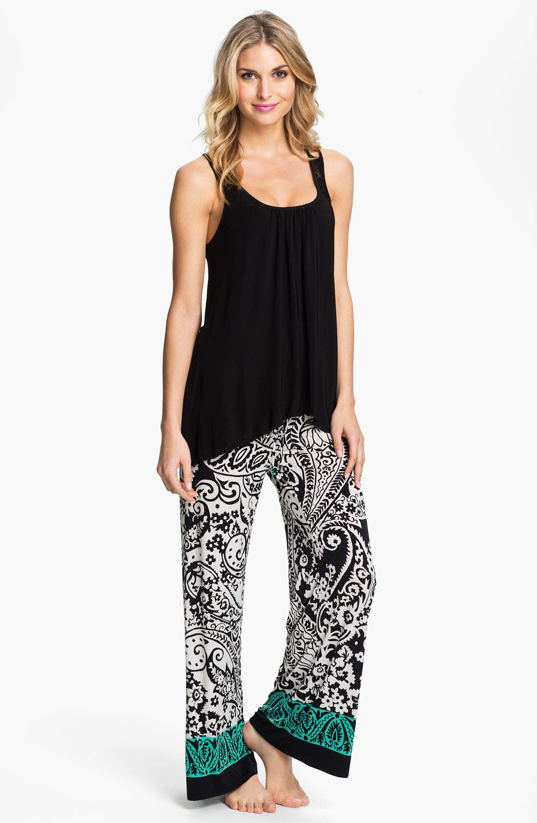 Alternate Image 3  - In Bloom by Jonquil Paisley Border Pants