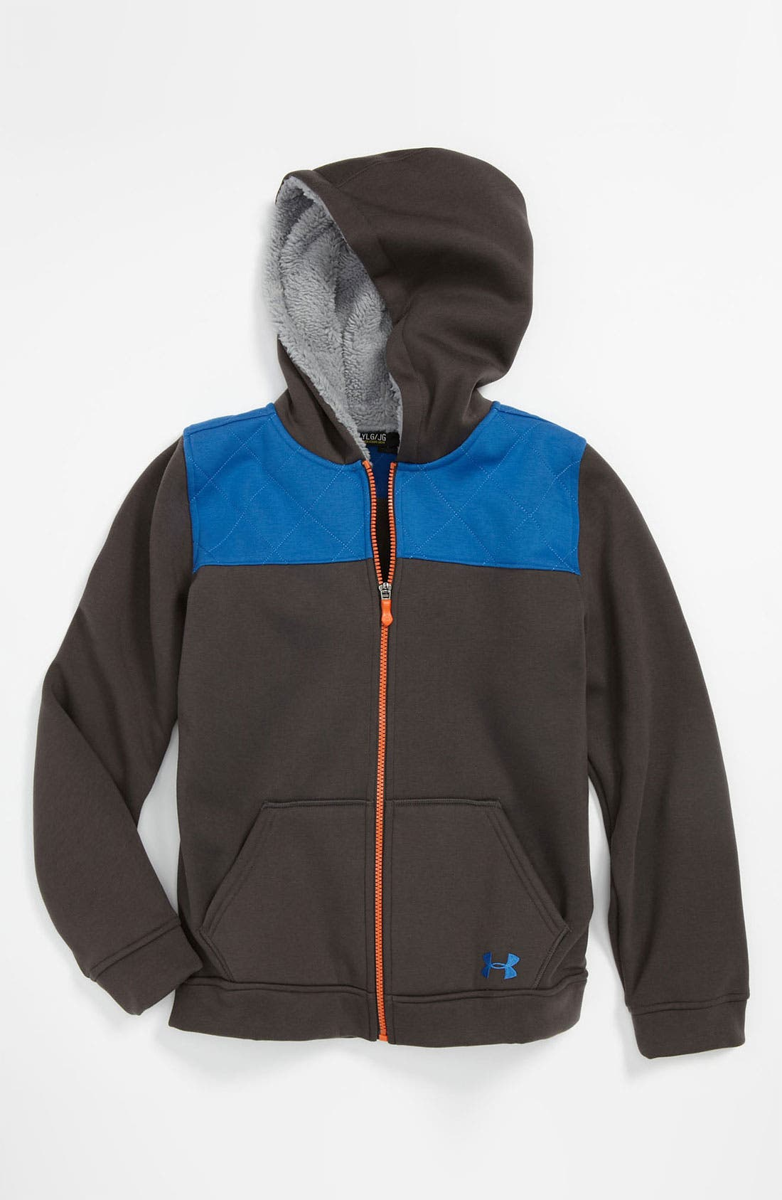 Alternate Image 1 Selected - Under Armour 'Super Warm FZ' Hoodie (Big Boys)