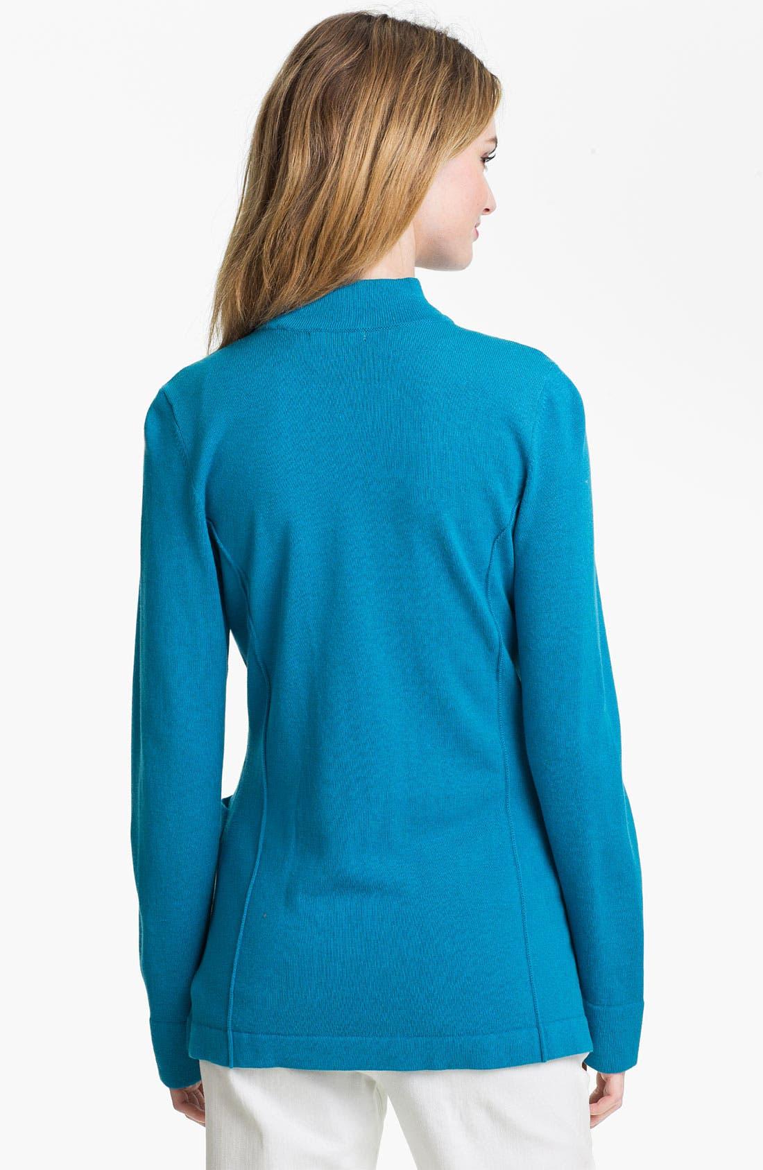 Alternate Image 2  - Nic + Zoe Double Breasted Knit Jacket