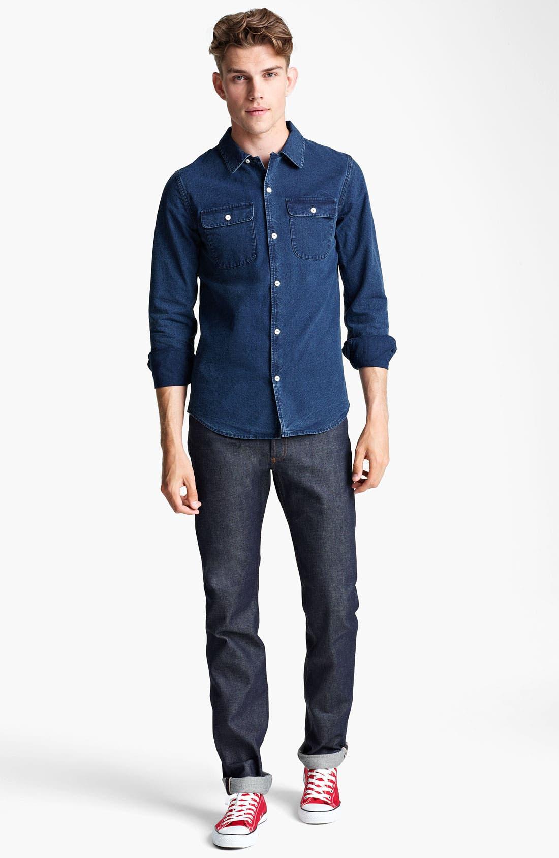 Alternate Image 4  - A.P.C. Denim Shirt