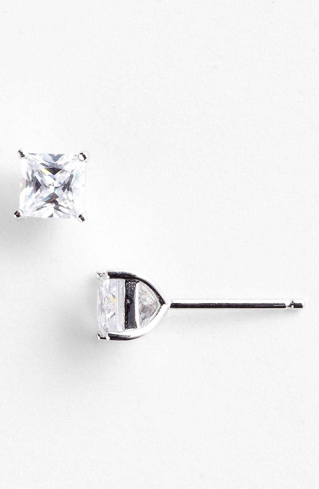 Alternate Image 1 Selected - Nordstrom Princess 1ct tw Cubic Zirconia Stud Earrings