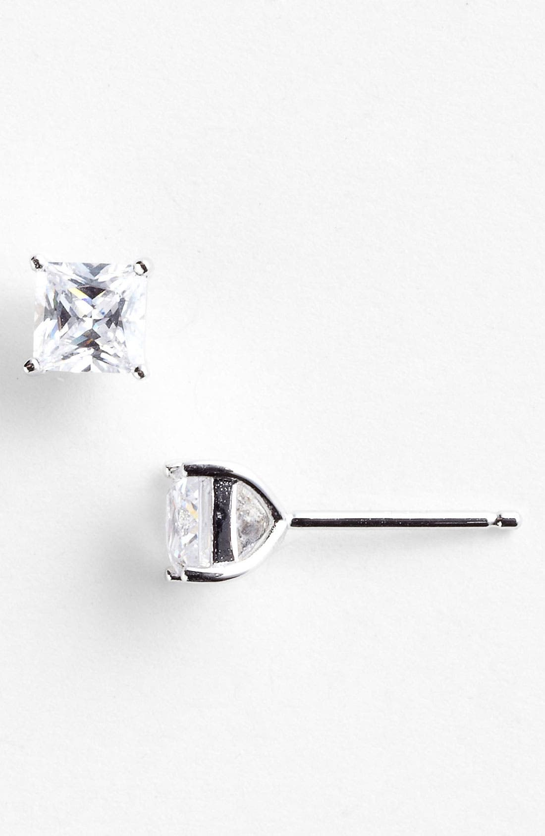Main Image - Nordstrom Princess 1ct tw Cubic Zirconia Stud Earrings