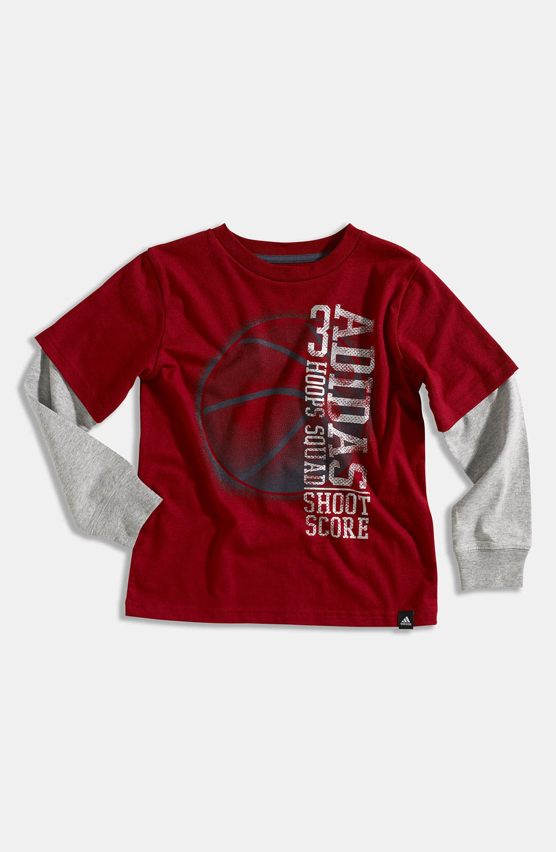 Alternate Image 1 Selected - adidas 'Triple Score' Shirt (Little Boys)