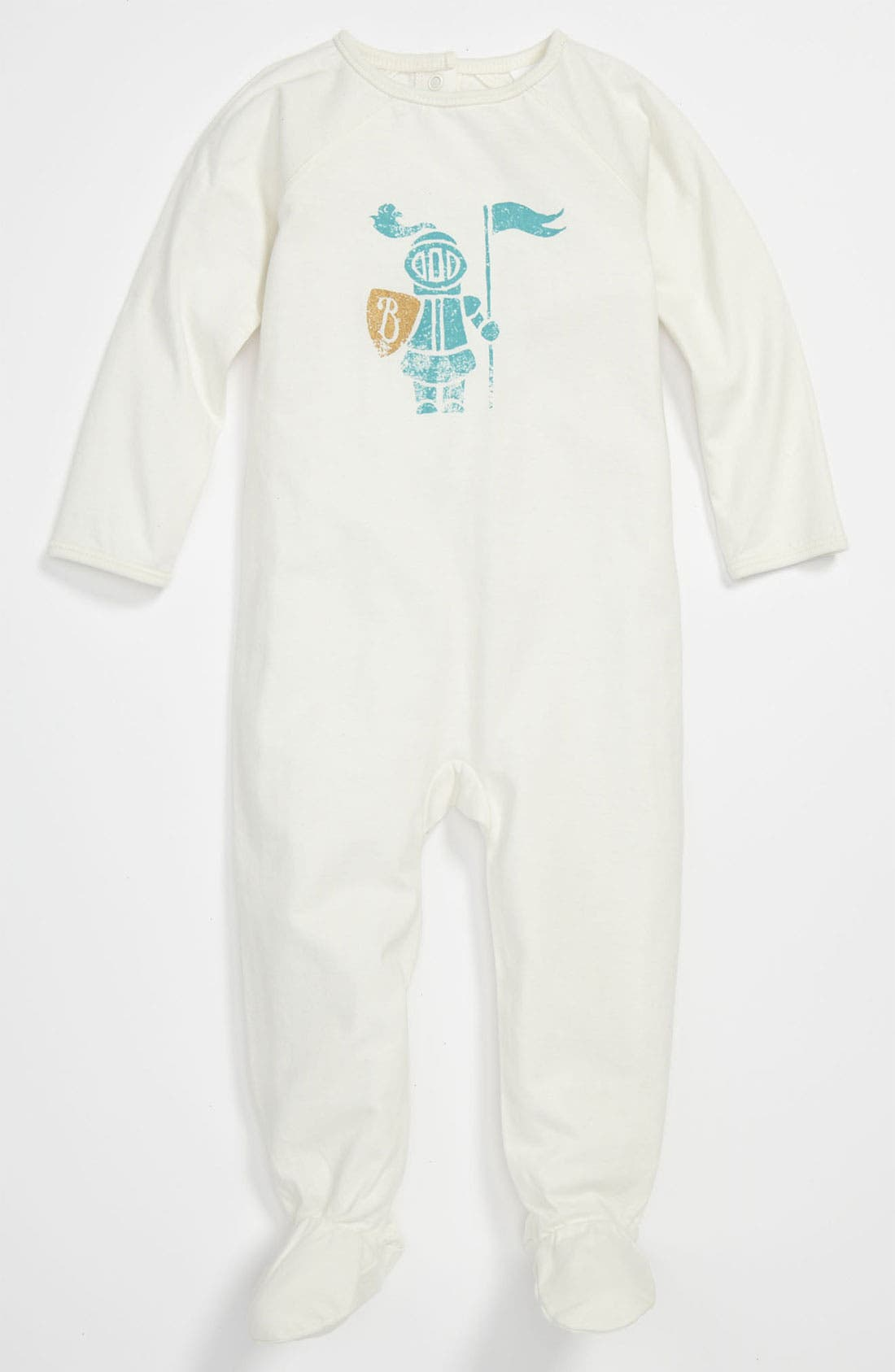 Main Image - Burberry 'Peaches' Footie (Baby)