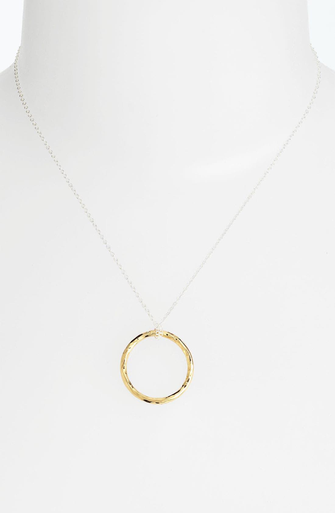 Main Image - Argento Vivo Circle Pendant Necklace (Nordstrom Exclusive)