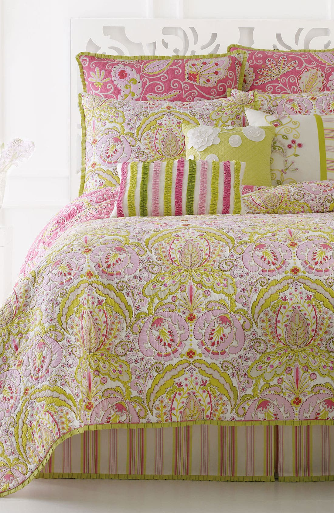 Alternate Image 2  - Dena Home 'Moroccan Garden' Bed Skirt