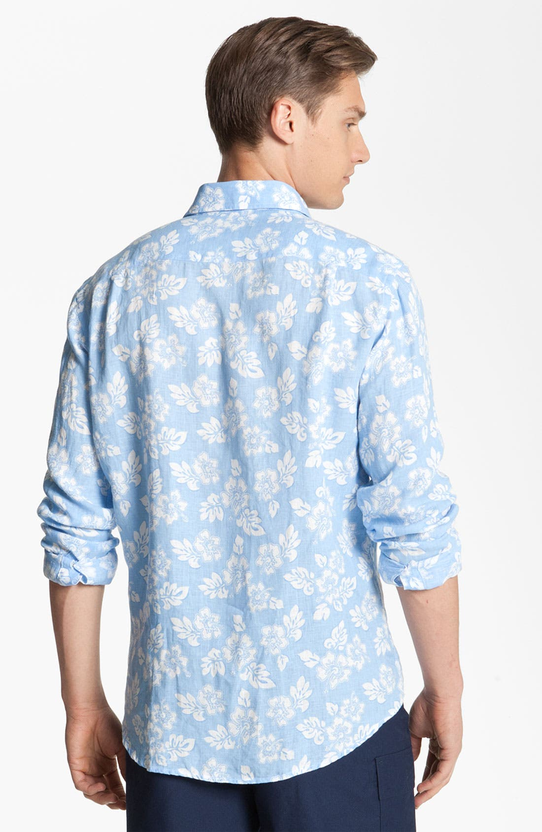 Alternate Image 2  - Vilebrequin Print Linen Shirt