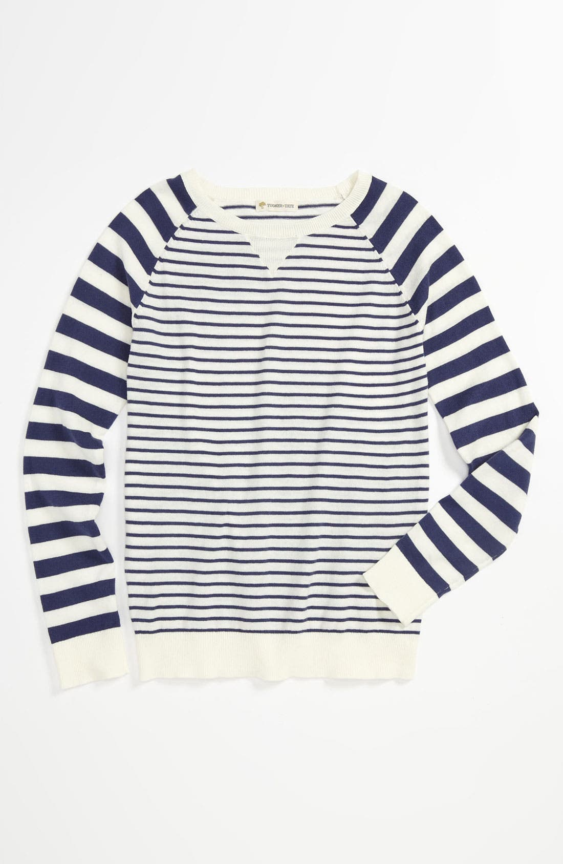 Main Image - Tucker + Tate 'Annalise' Stripe Sweater (Big Girls)