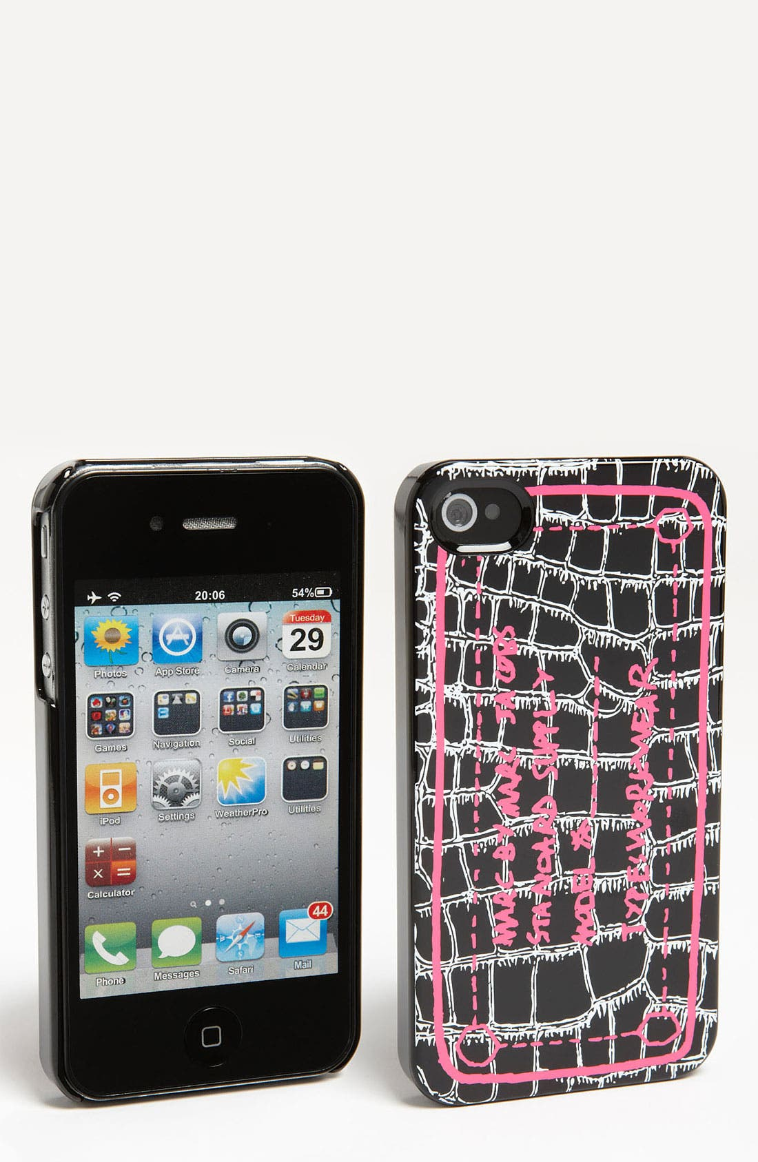 Alternate Image 1 Selected - MARC BY MARC JACOBS 'Trompe Croc Print' iPhone 4 & 4S Case
