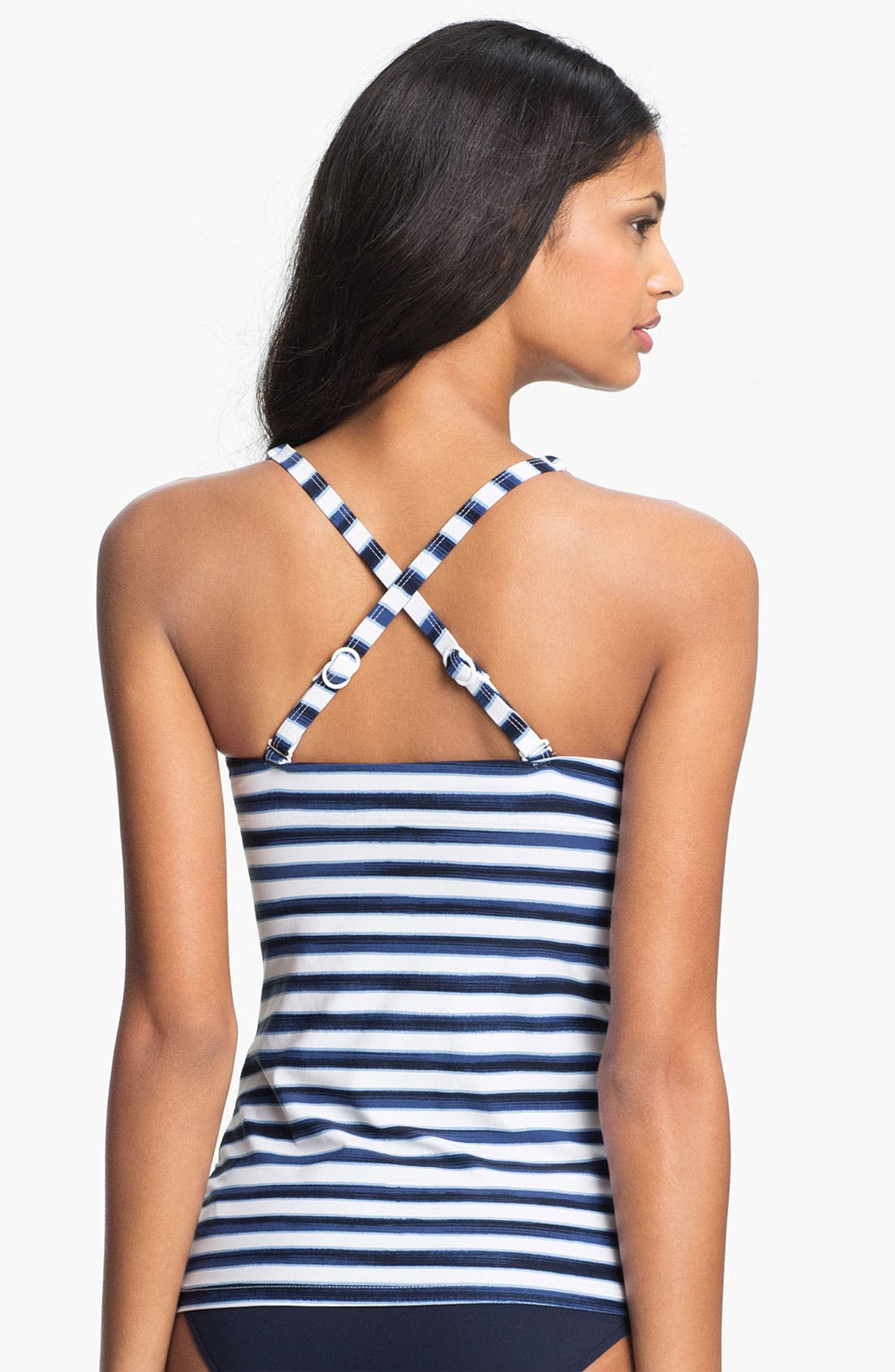 Alternate Image 2  - Seafolly Ruched Tankini Top (DD Cup)