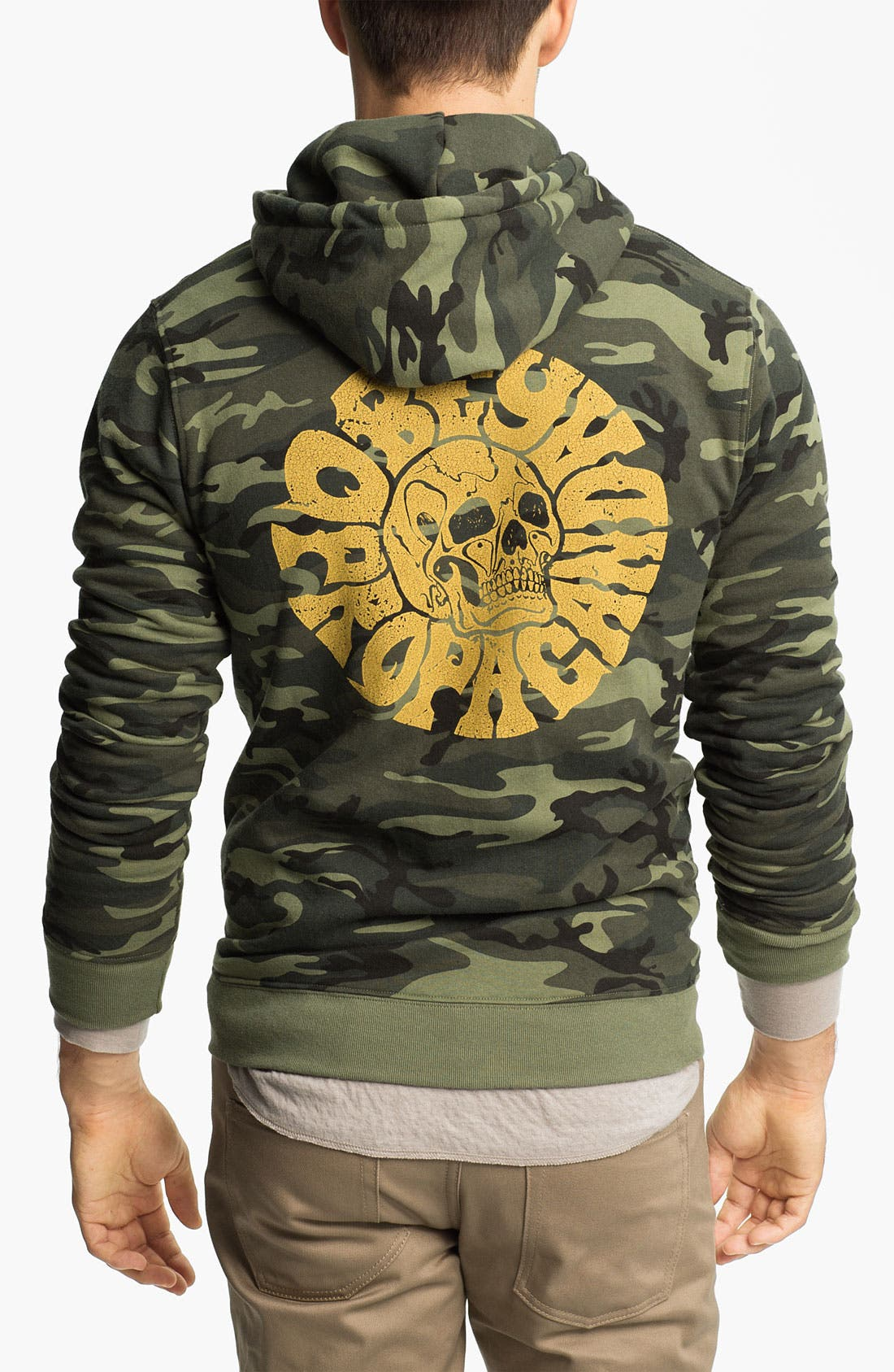 Alternate Image 2  - Obey 'Skull' Graphic Camo Hoodie