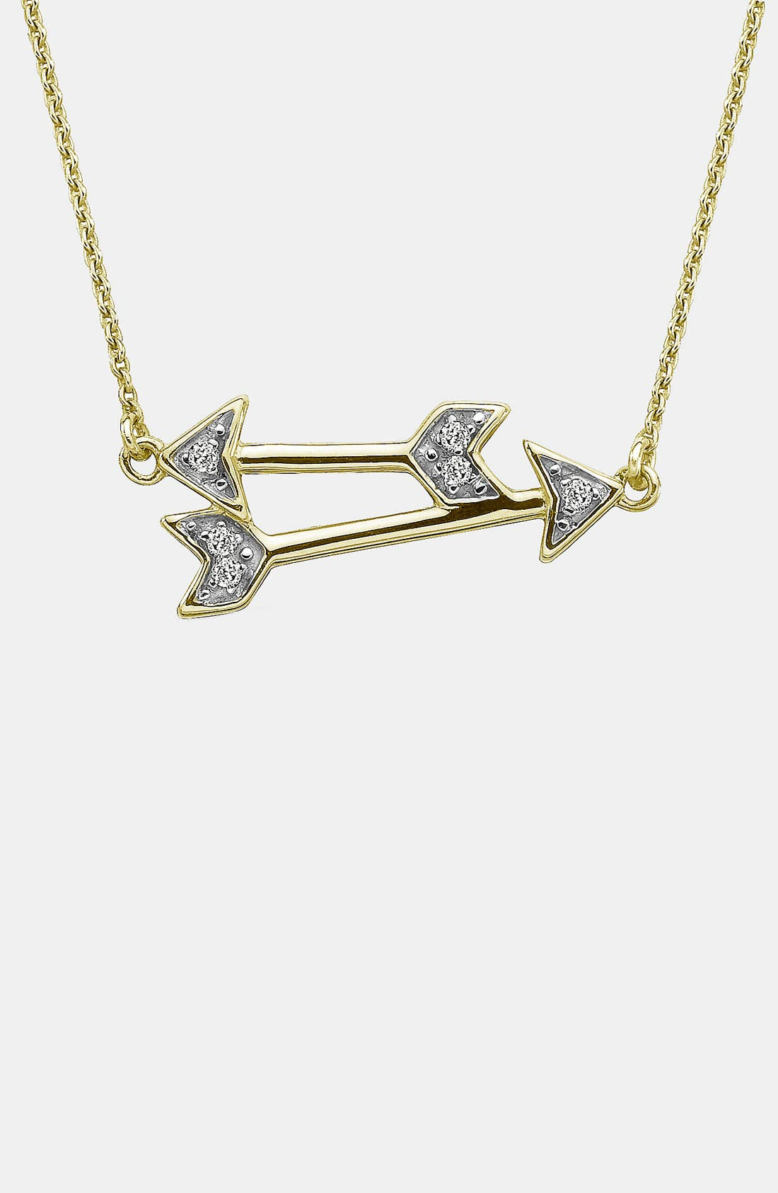 Alternate Image 1 Selected - Whitney Stern Double Arrow Pendant Necklace