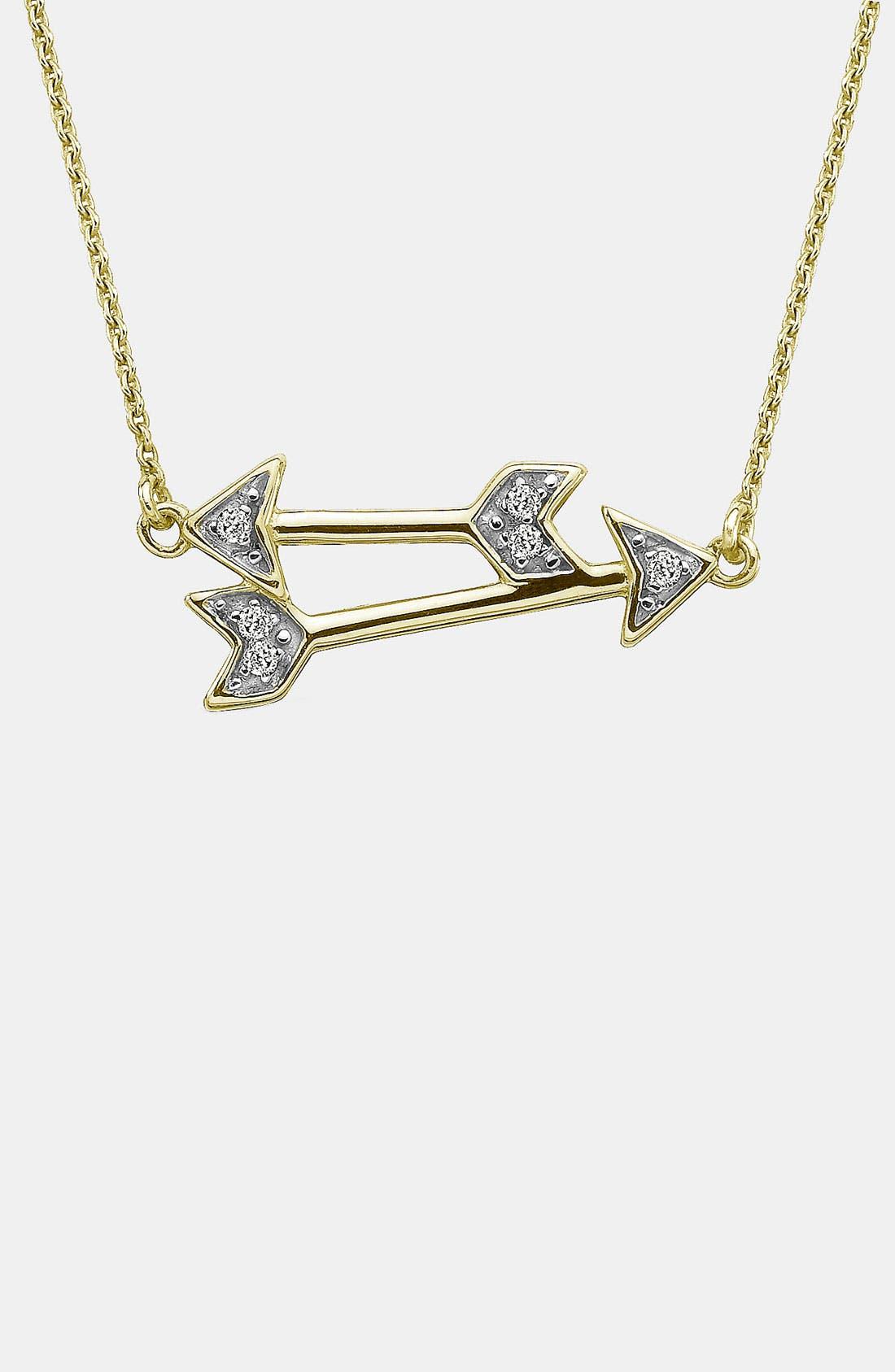 Main Image - Whitney Stern Double Arrow Pendant Necklace