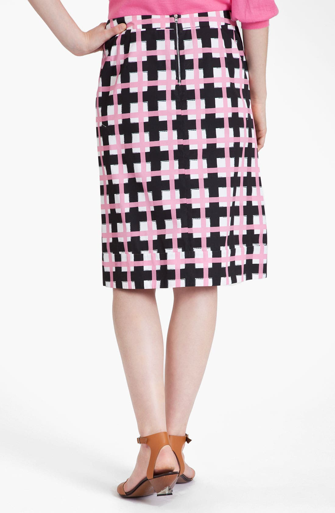 Alternate Image 2  - Marni Grid Print Taffeta Pencil Skirt