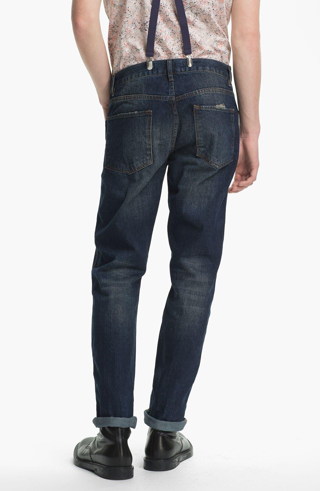 Main Image - Topman Slim Fit Jeans (Indigo)