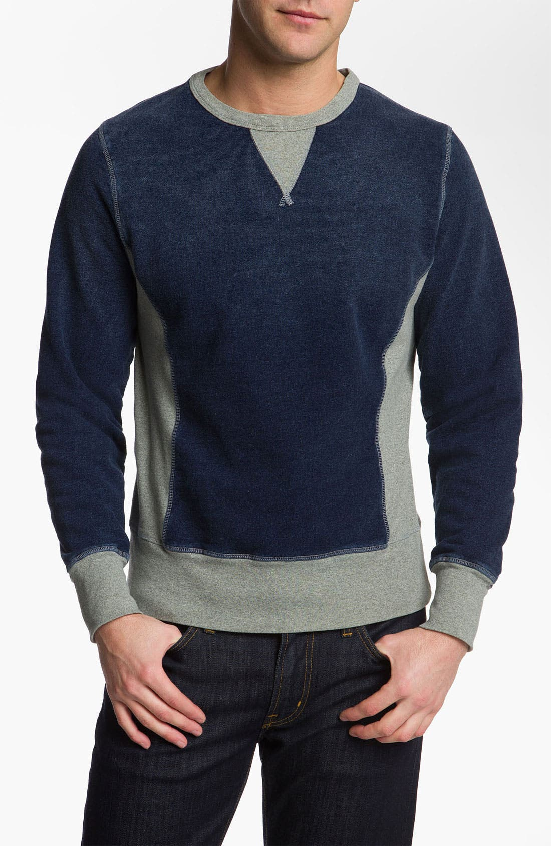 Main Image - AG Jeans Long Sleeve Crewneck Pullover