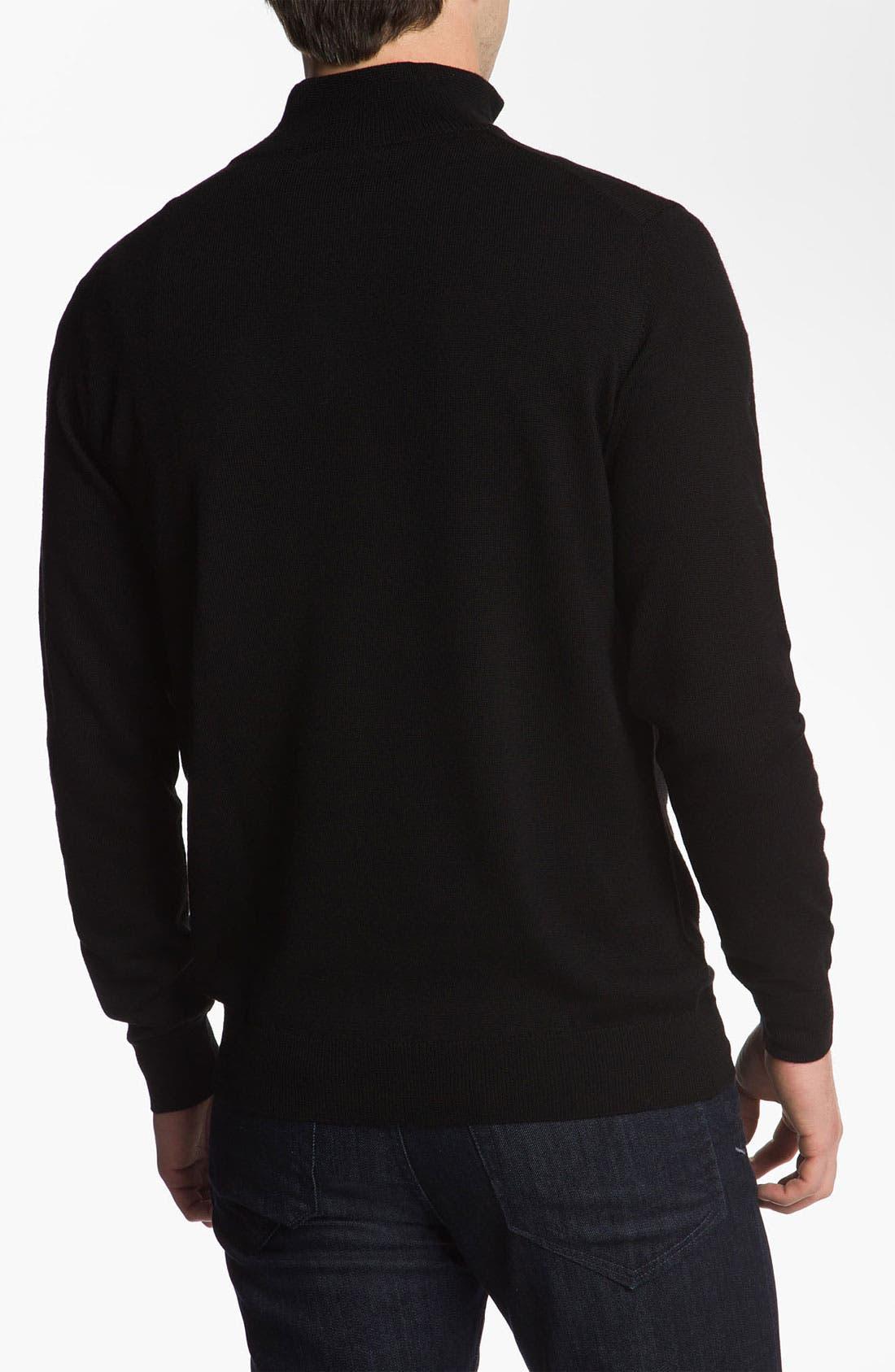 Alternate Image 2  - Lacoste Lambswool Mock Neck Sweater