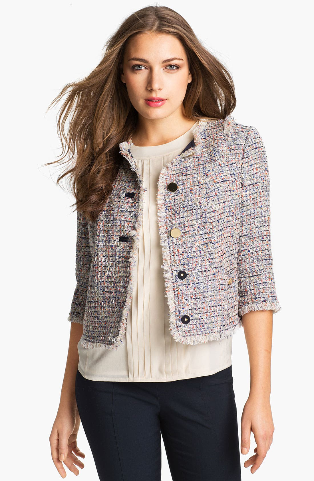 Alternate Image 1 Selected - Tory Burch 'Emma' Crop Jacket