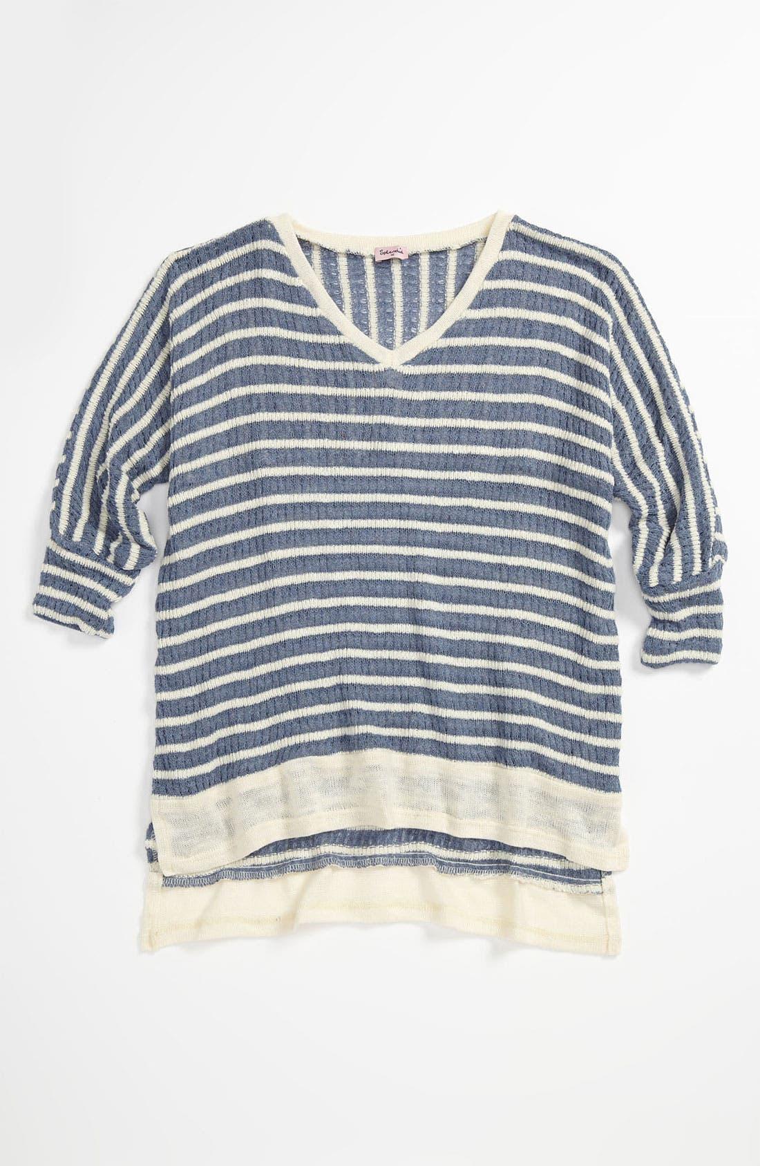 Alternate Image 1 Selected - Splendid 'Panama' Stripe Top (Big Girls)
