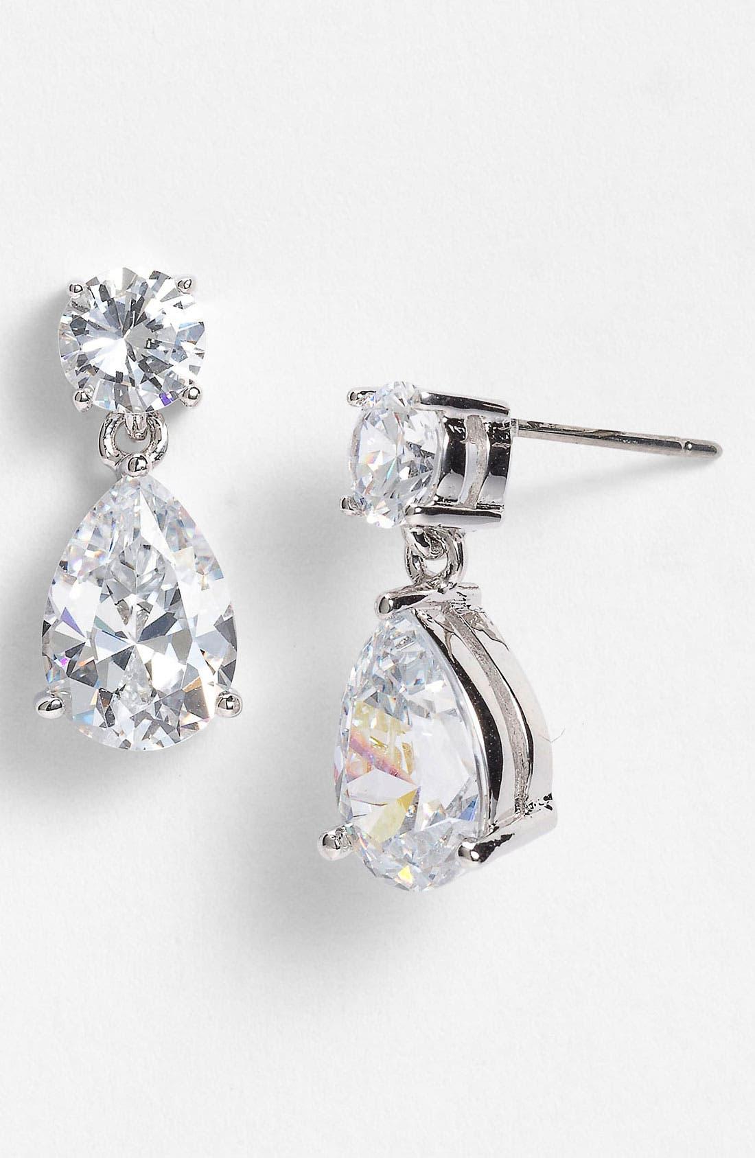 Alternate Image 1 Selected - Nadri Cubic Zirconia Teardrop Earrings