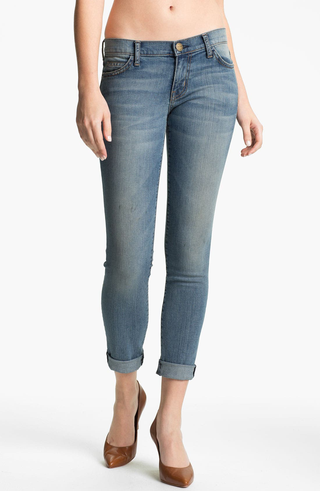 Main Image - Current/Elliott 'The Rolled' Skinny Jeans (Bleecker)