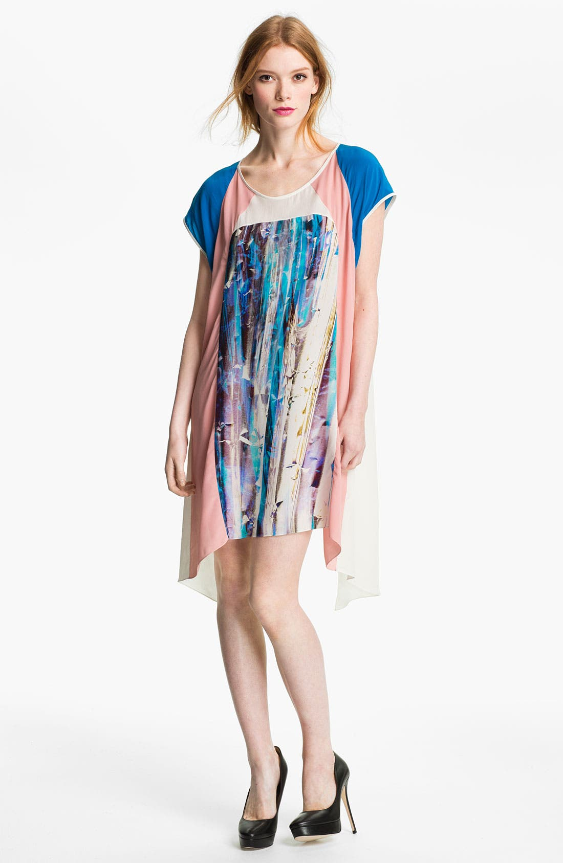 Alternate Image 1 Selected - Rebecca Minkoff 'Baseball' Colorblock Dress