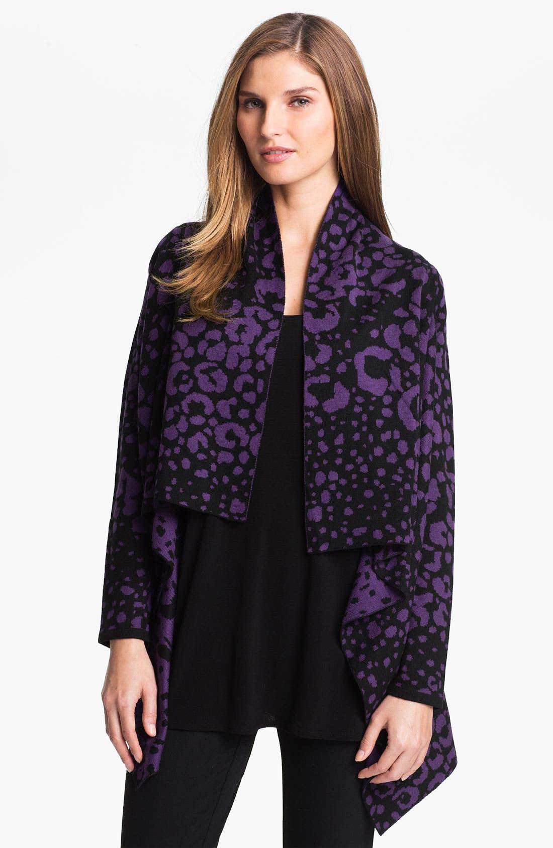 Main Image - Beatrix Ost Leopard Pattern Cardigan (Online Exclusive)