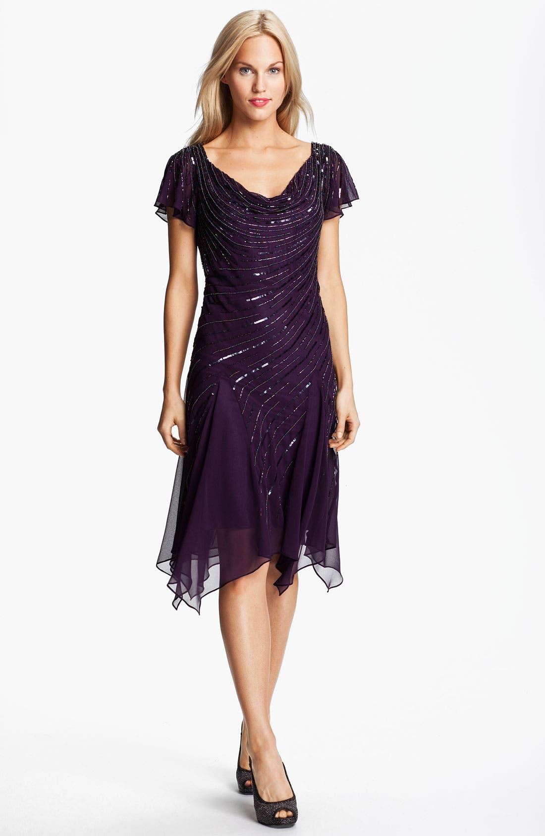 Main Image - J Kara Beaded Chiffon Dress