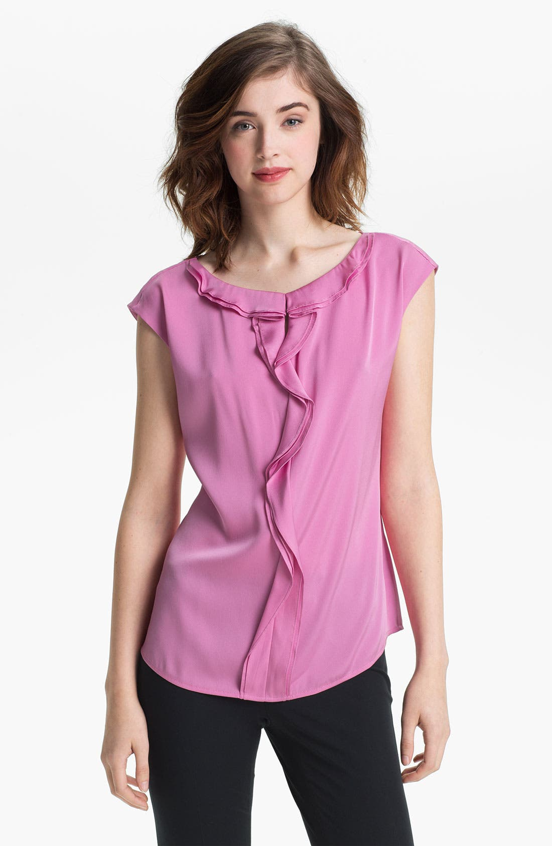 Alternate Image 1 Selected - Classiques Entier Ruffled Silk Blouse