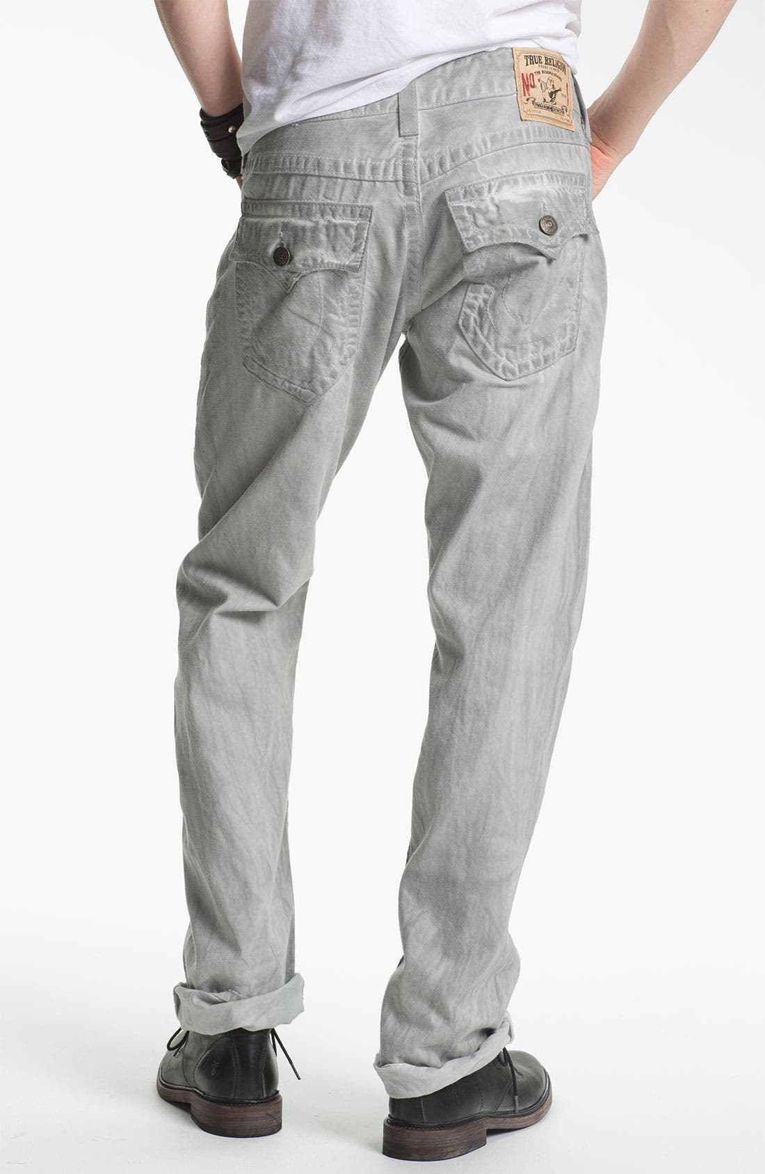 Main Image - True Religion Brand Jeans 'Ricky' Straight Leg Jeans (Pebble)