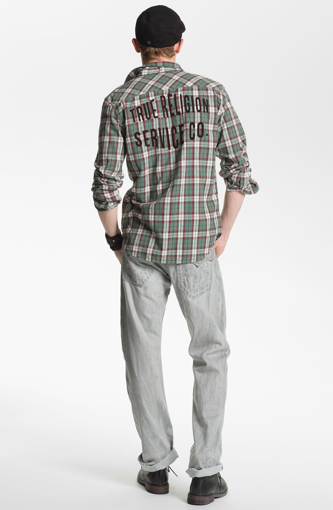 Alternate Image 6  - True Religion Brand Jeans 'Ricky' Straight Leg Jeans (Pebble)