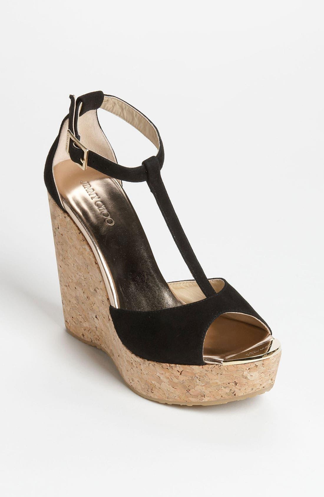 Main Image - Jimmy Choo 'Pela' Cork Sandal