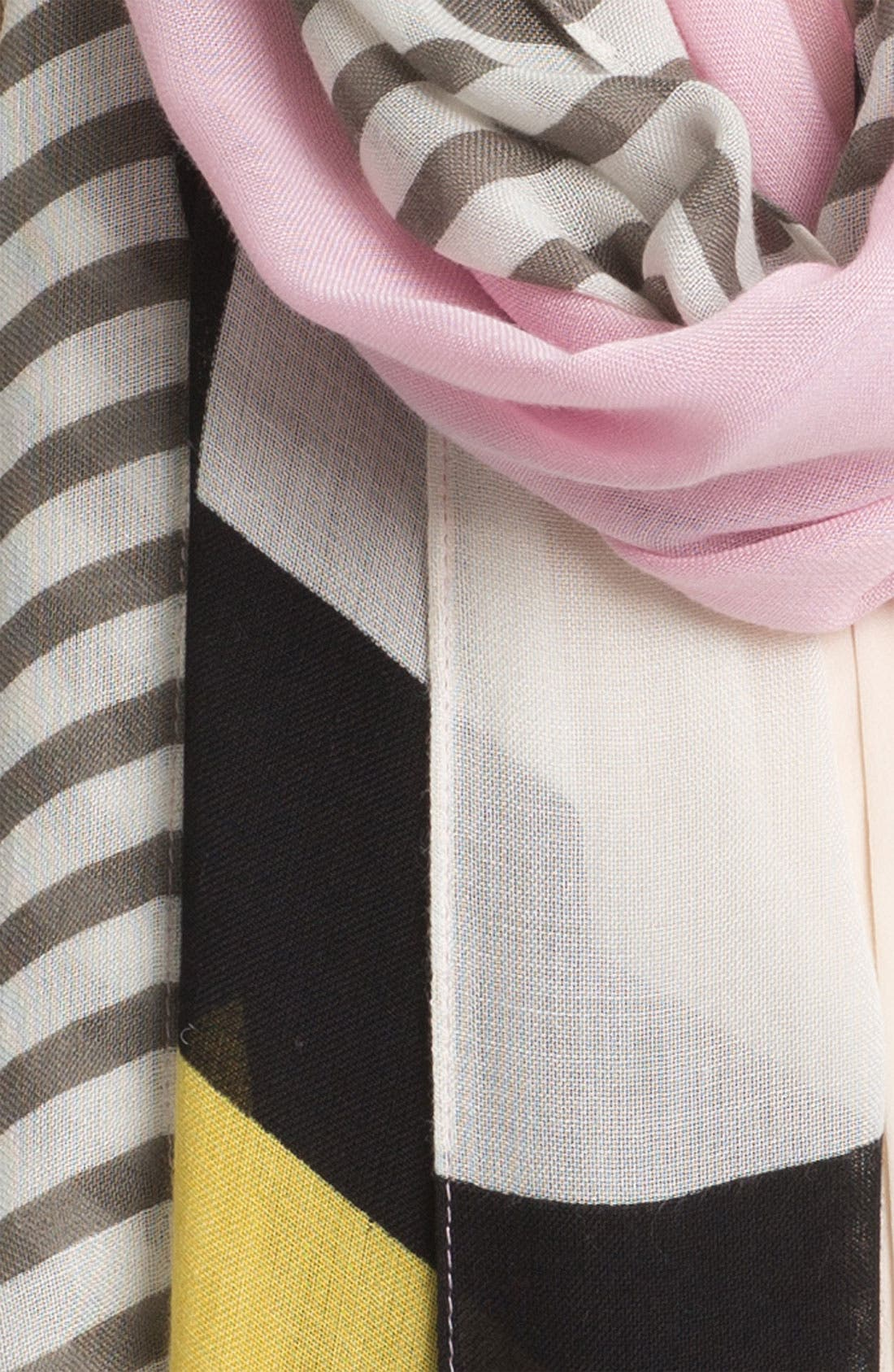 Alternate Image 2  - kate spade new york 'spring mondrian' scarf